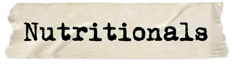Nutritionals Header